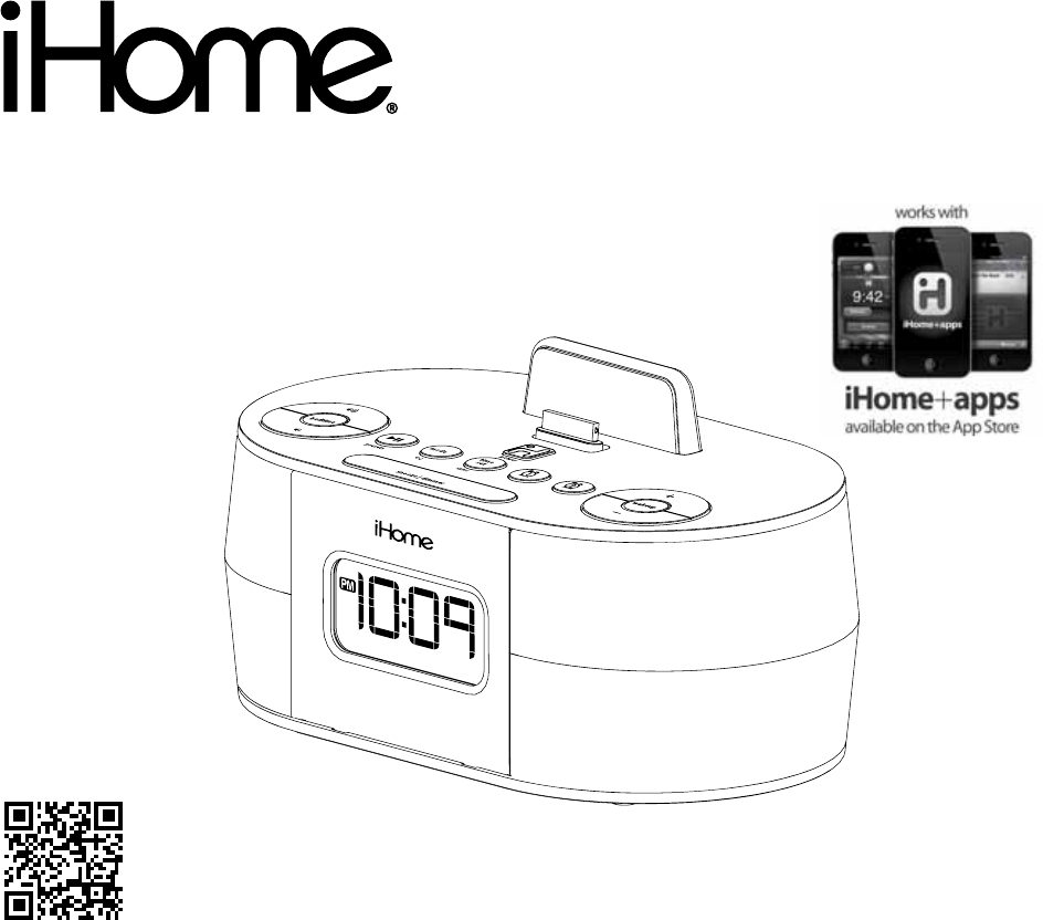 iHome MP3 Docking Station ID38SVC User Guide