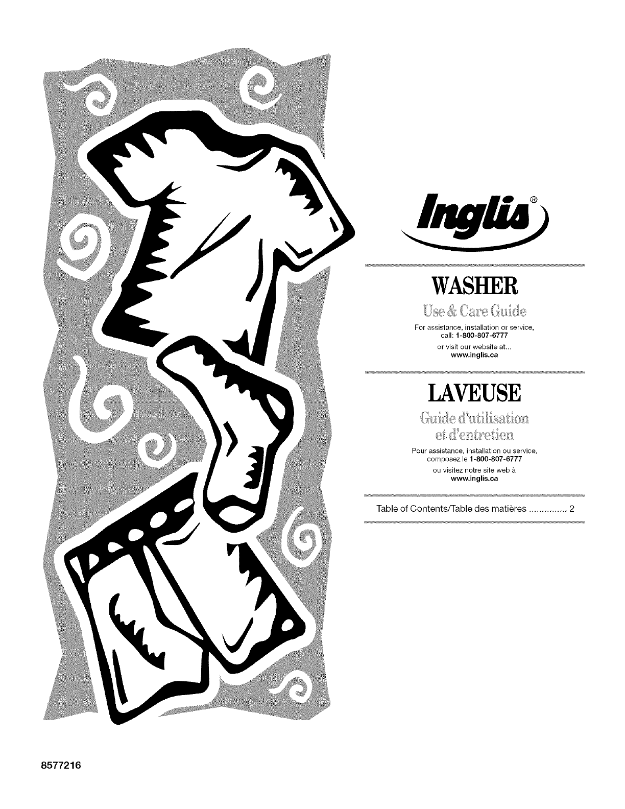 Inglis Home Appliances Washer Washer User Guide