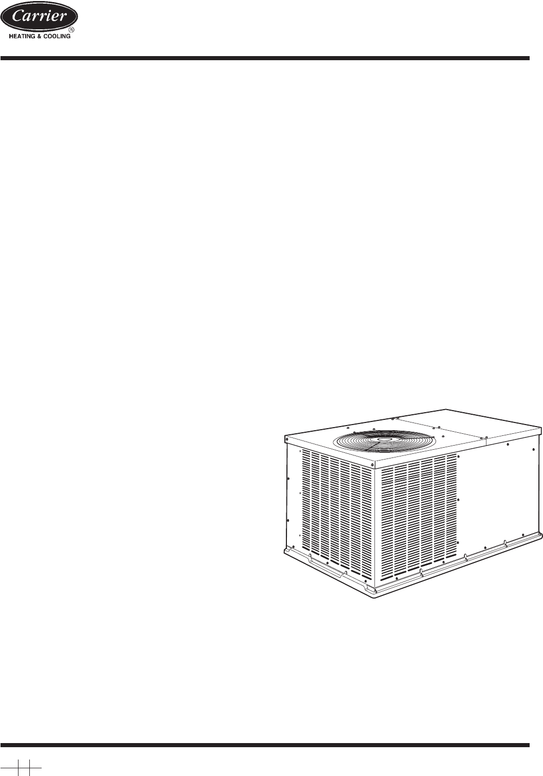 Carrier Air Conditioner 50zh024 060 User Guide
