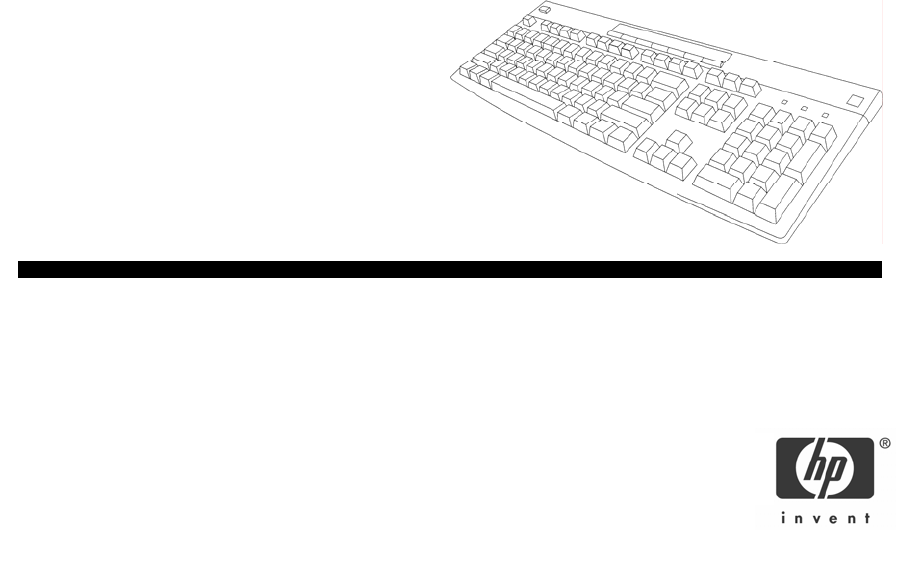 HP (Hewlett-Packard) Computer Keyboard P2358AA User Guide