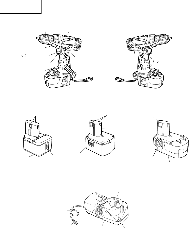 Page 12 of Hitachi Cordless Drill DS 18DVF3 User Guide