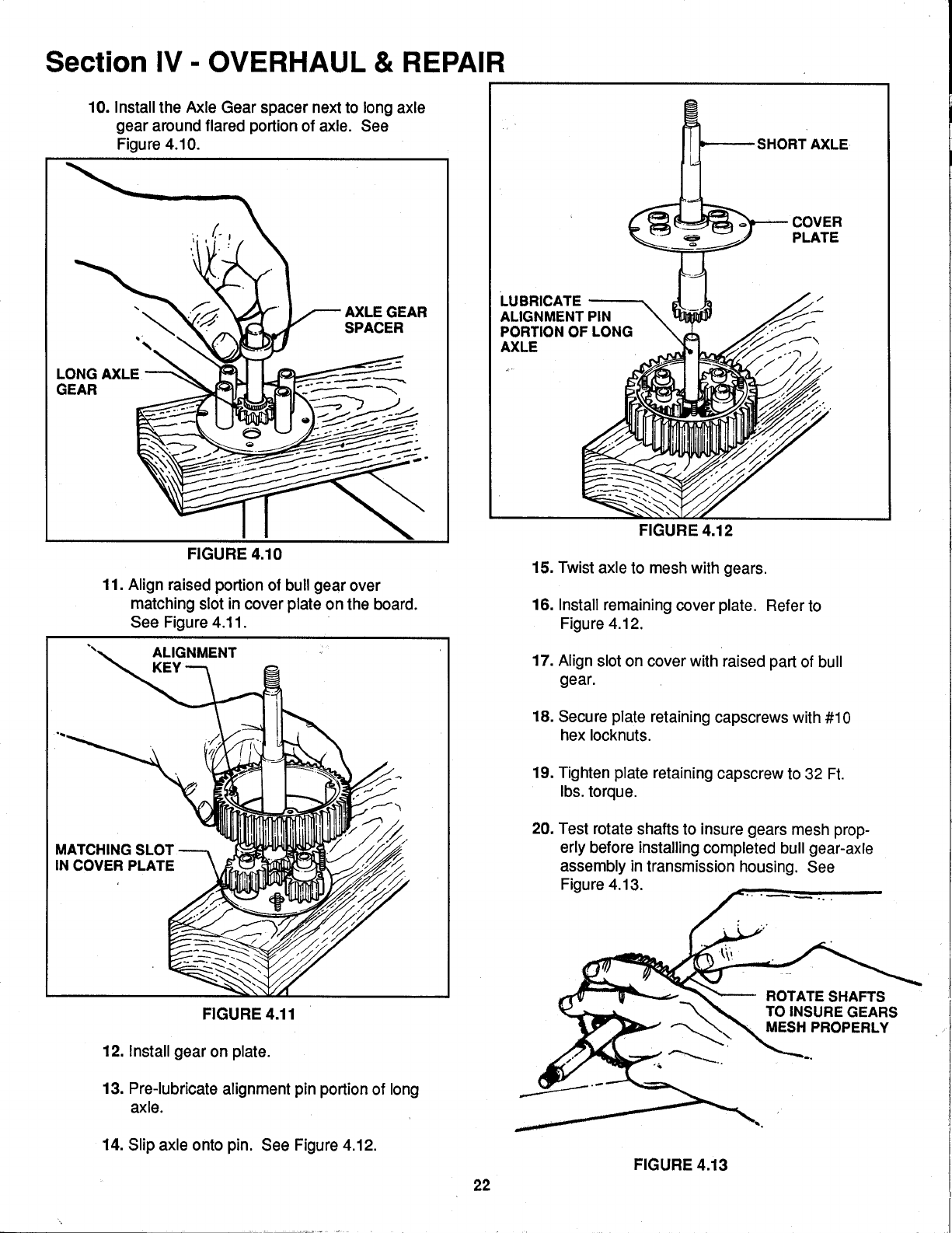Page 22 of Snapper Lawn Mower 0-7001 User Guide