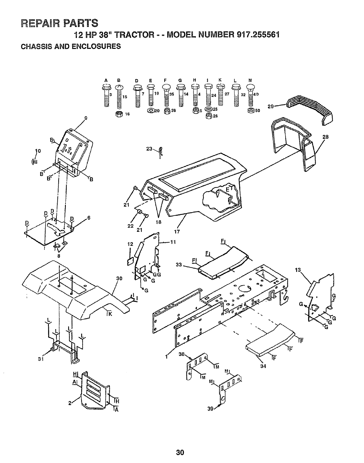 Page 30 of Craftsman Lawn Mower 917.255561 User Guide