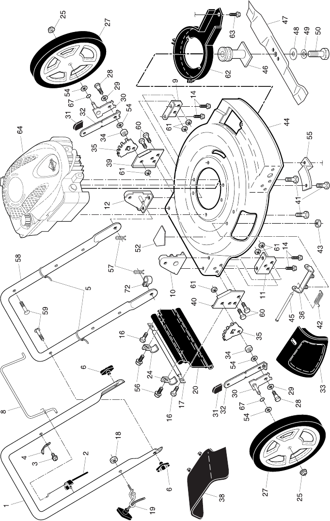 Page 2 of Poulan Lawn Mower PR625Y22SHP User Guide