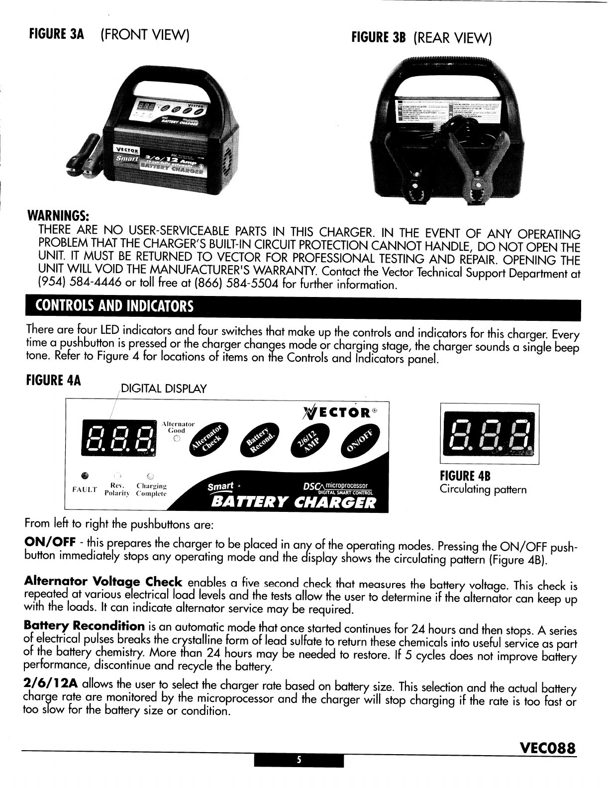 Page 5 of Vector Battery Charger Automatic Battery Charger
