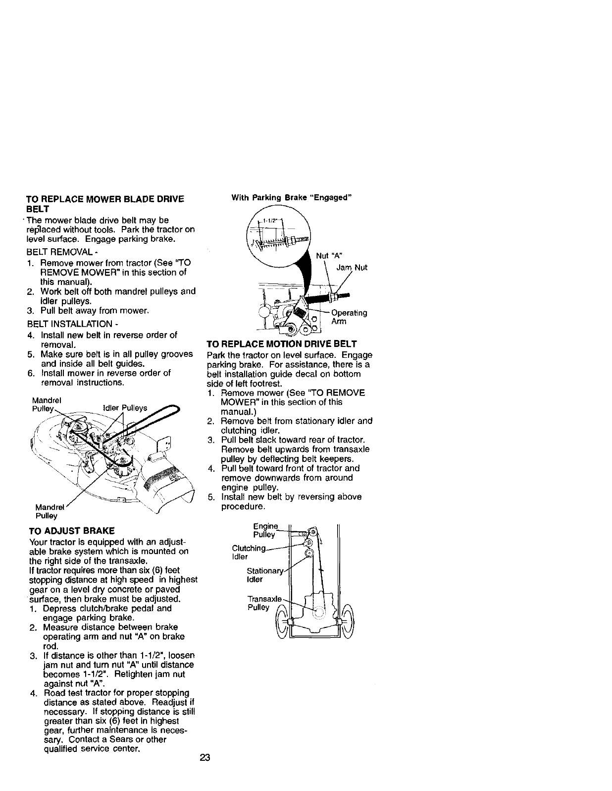 Page 23 of Craftsman Lawn Mower 917.272051 User Guide