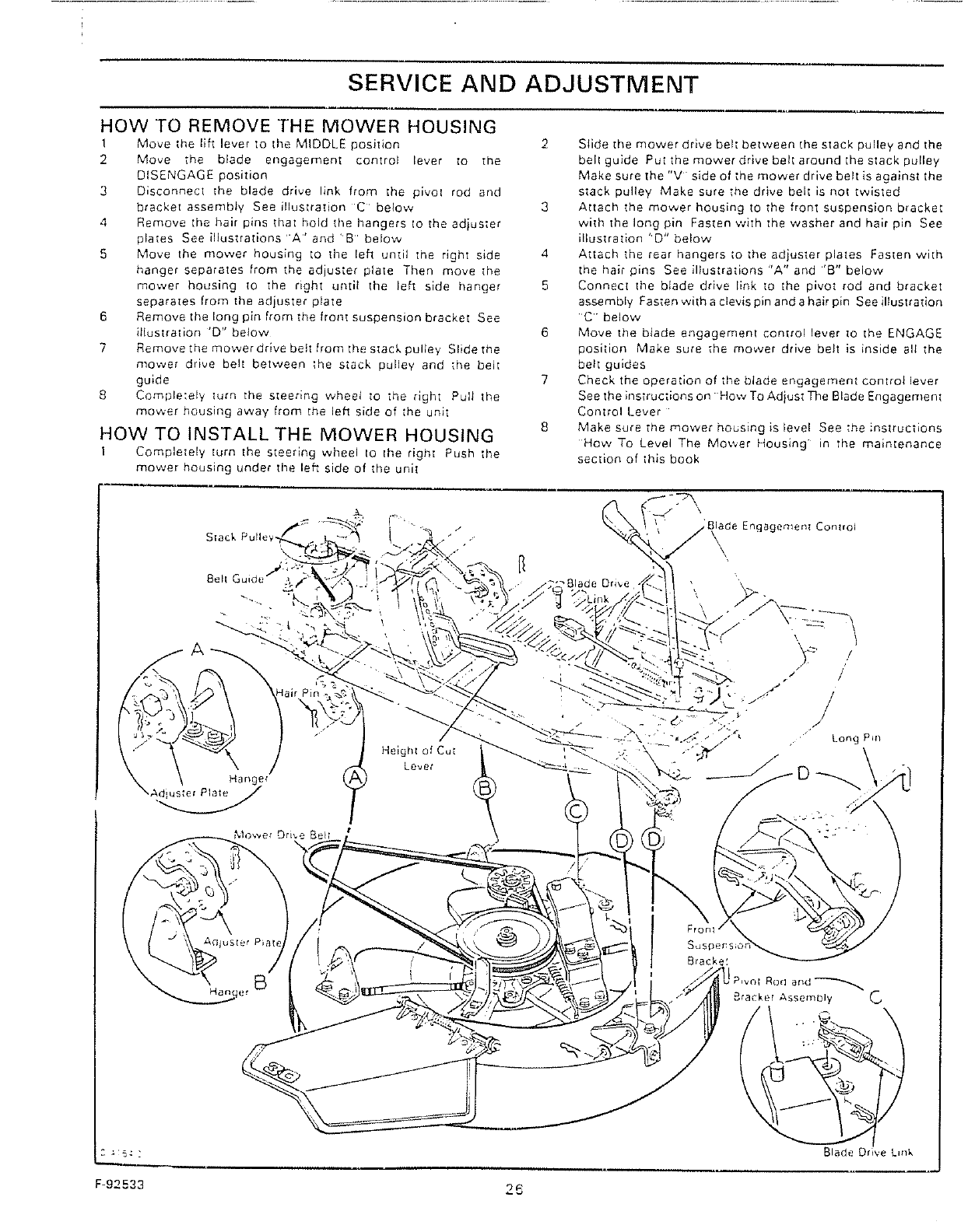 Page 26 of Sears Lawn Mower 502.25502 User Guide