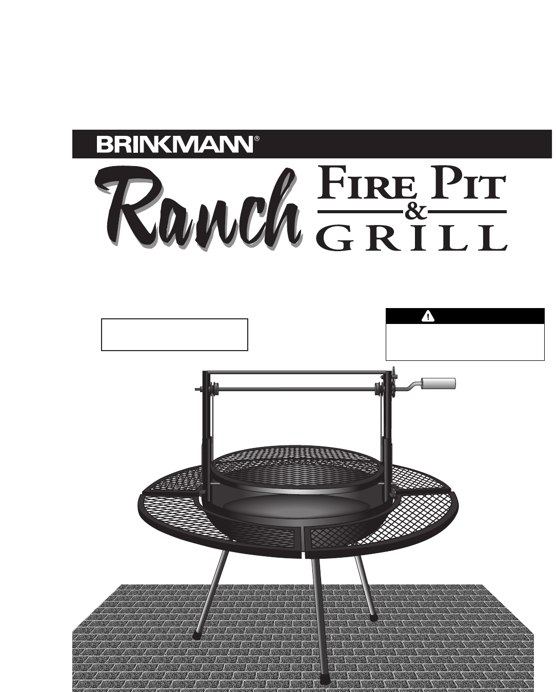 Brinkmann Fire Pit Fire Pit & Grill User Guide