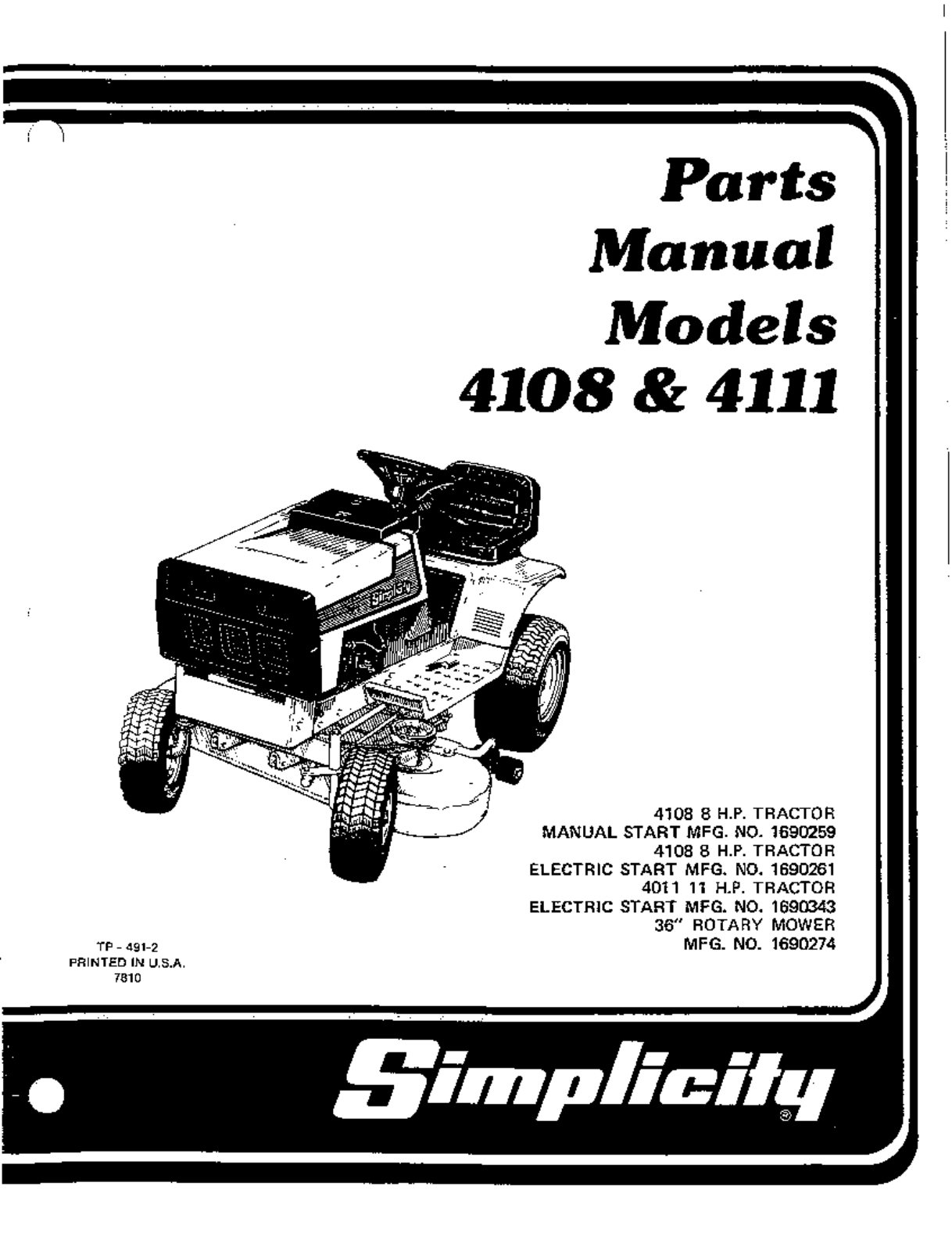 Simplicity Lawn Mower User Guide