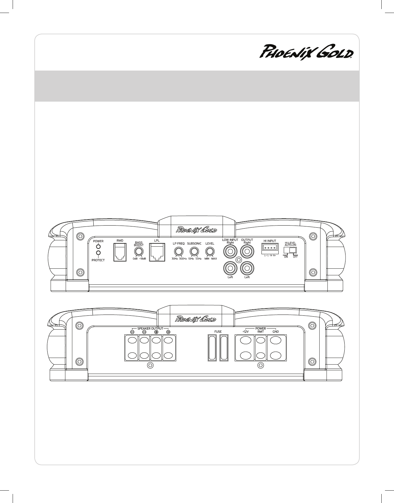 Page 3 of Phoenix Gold Car Amplifier R500.4 User Guide