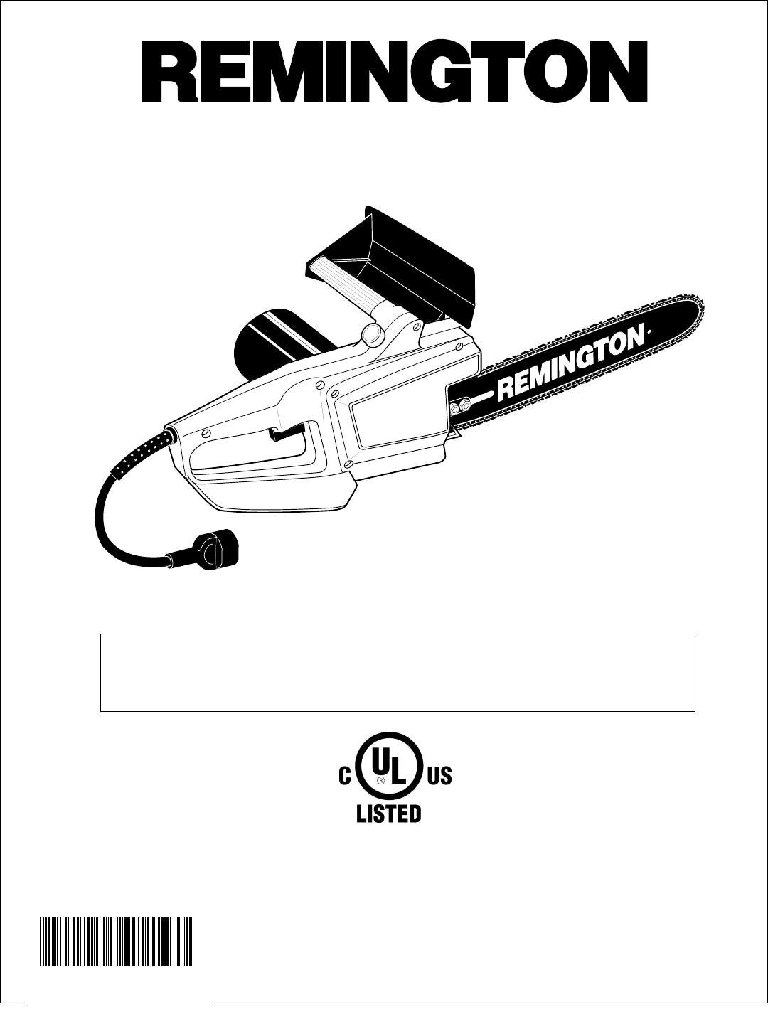 Page 17 of Remington Chainsaw EL-7 16-inch User Guide