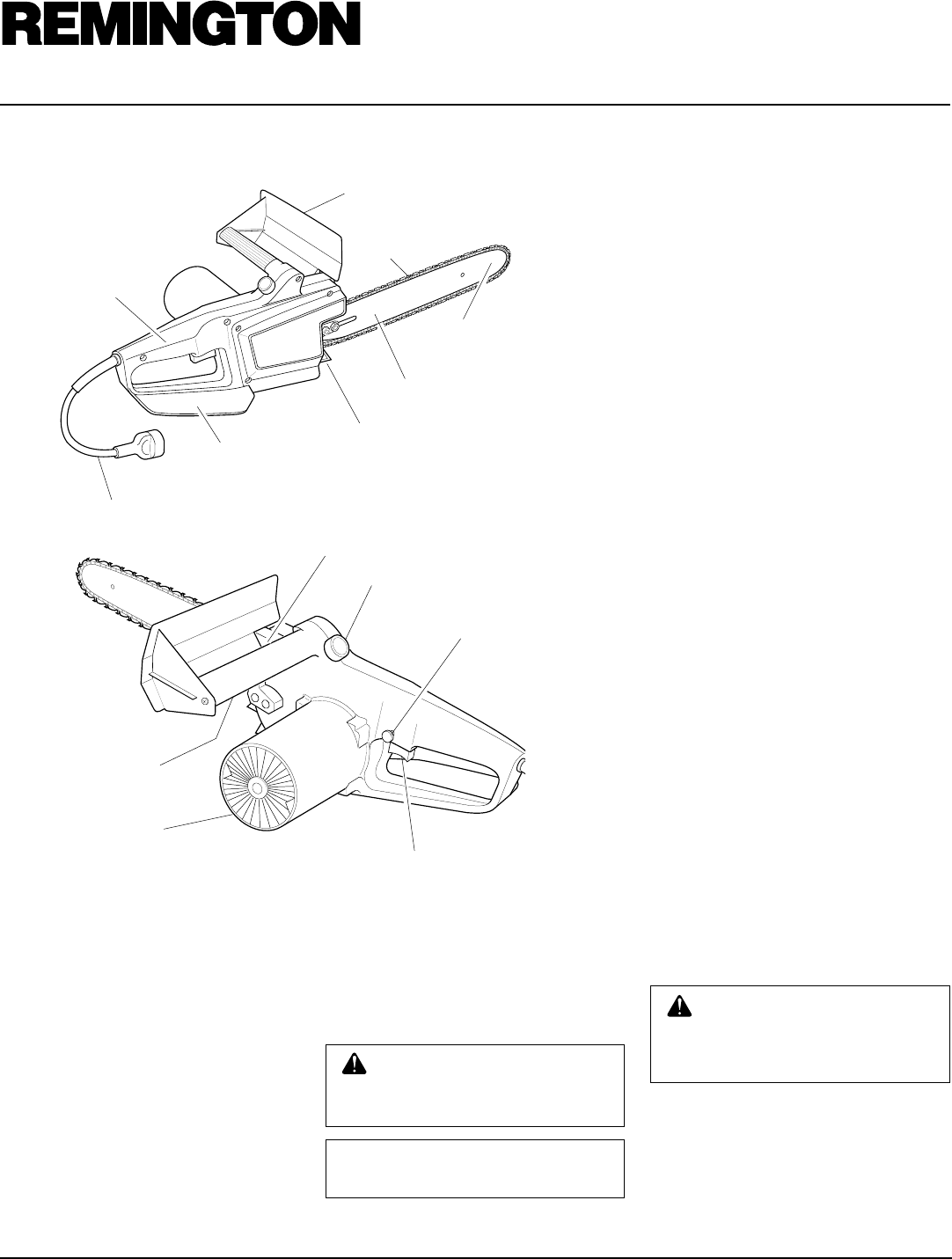 Page 6 of Remington Chainsaw EL-7 16-inch User Guide