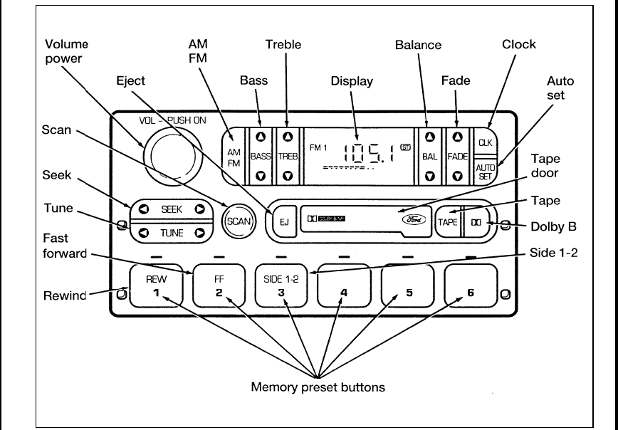 Page 127 of Ford Automobile Ranger User Guide