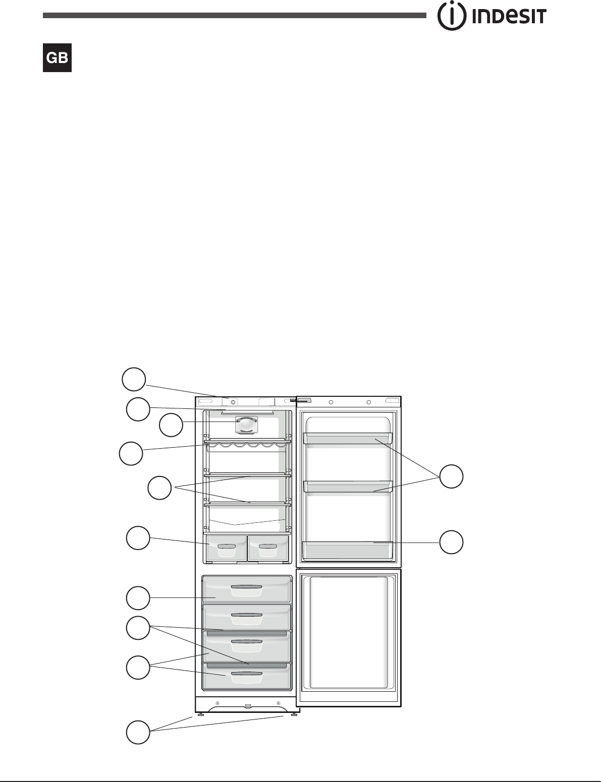 Page 3 of Indesit Refrigerator BIAA 12 XX (UK) User Guide