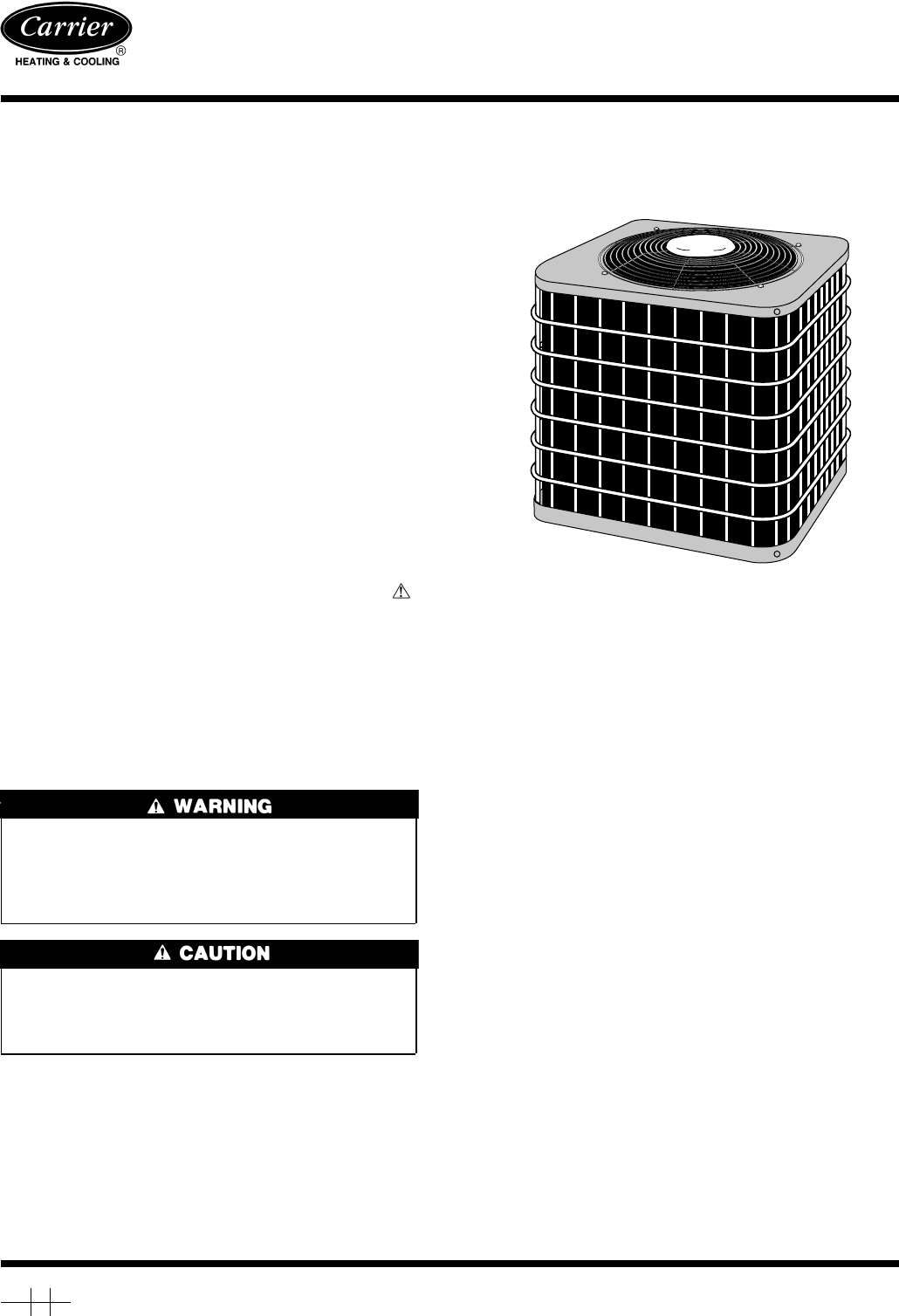 Instructions Manual For Heat Pump Carrier Up To Degrees C