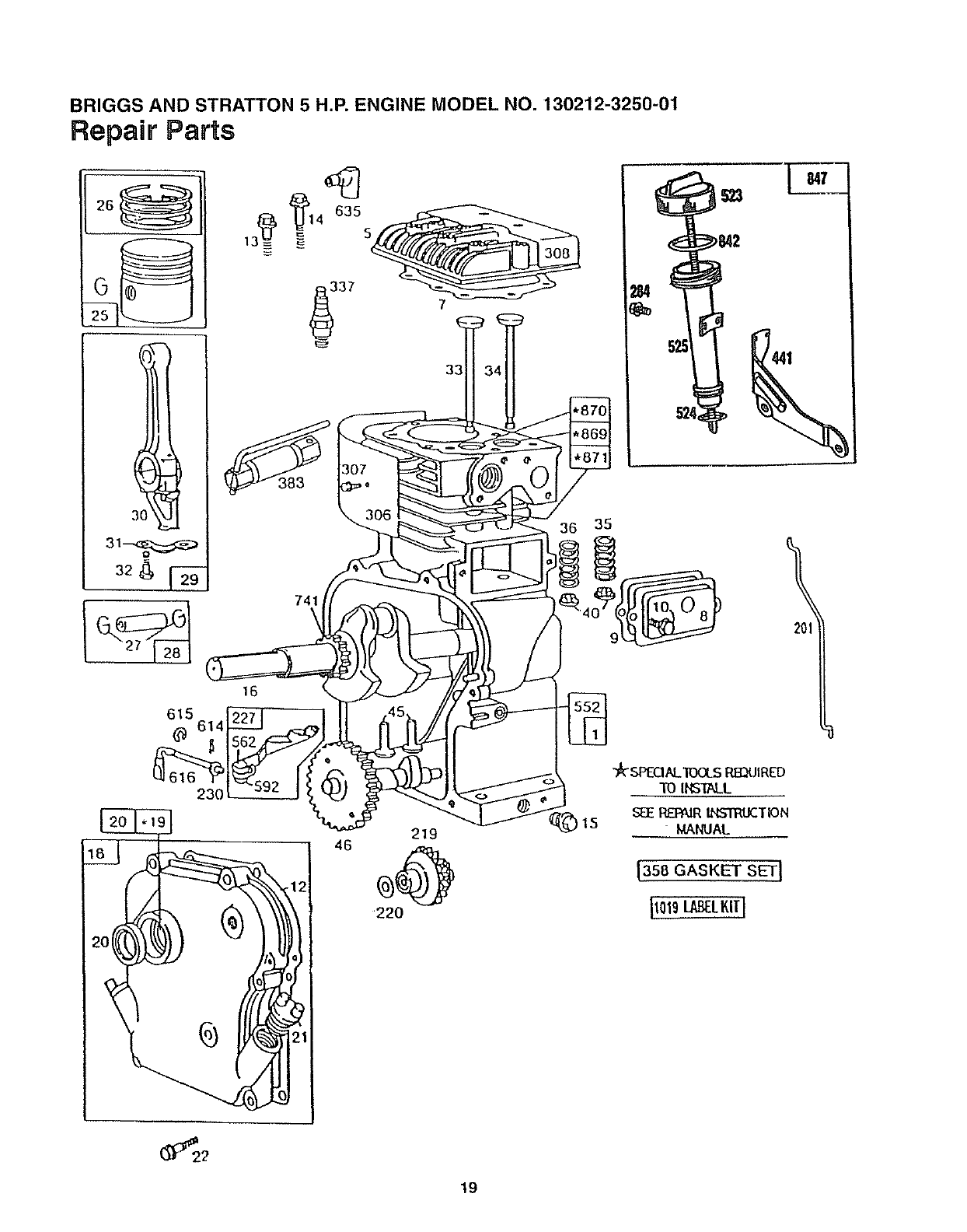 Briggs And Stratton Intek Single Cylinder Ohv Nikki Carb