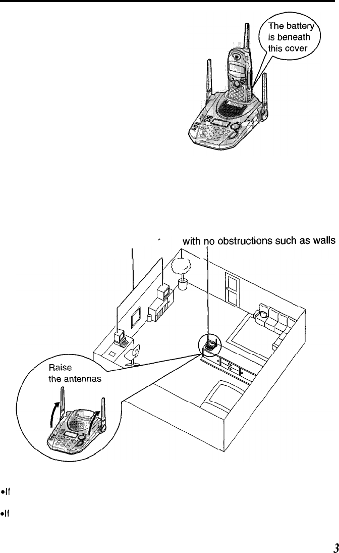 Page 3 of Panasonic Telephone KX- TG2583B User Guide