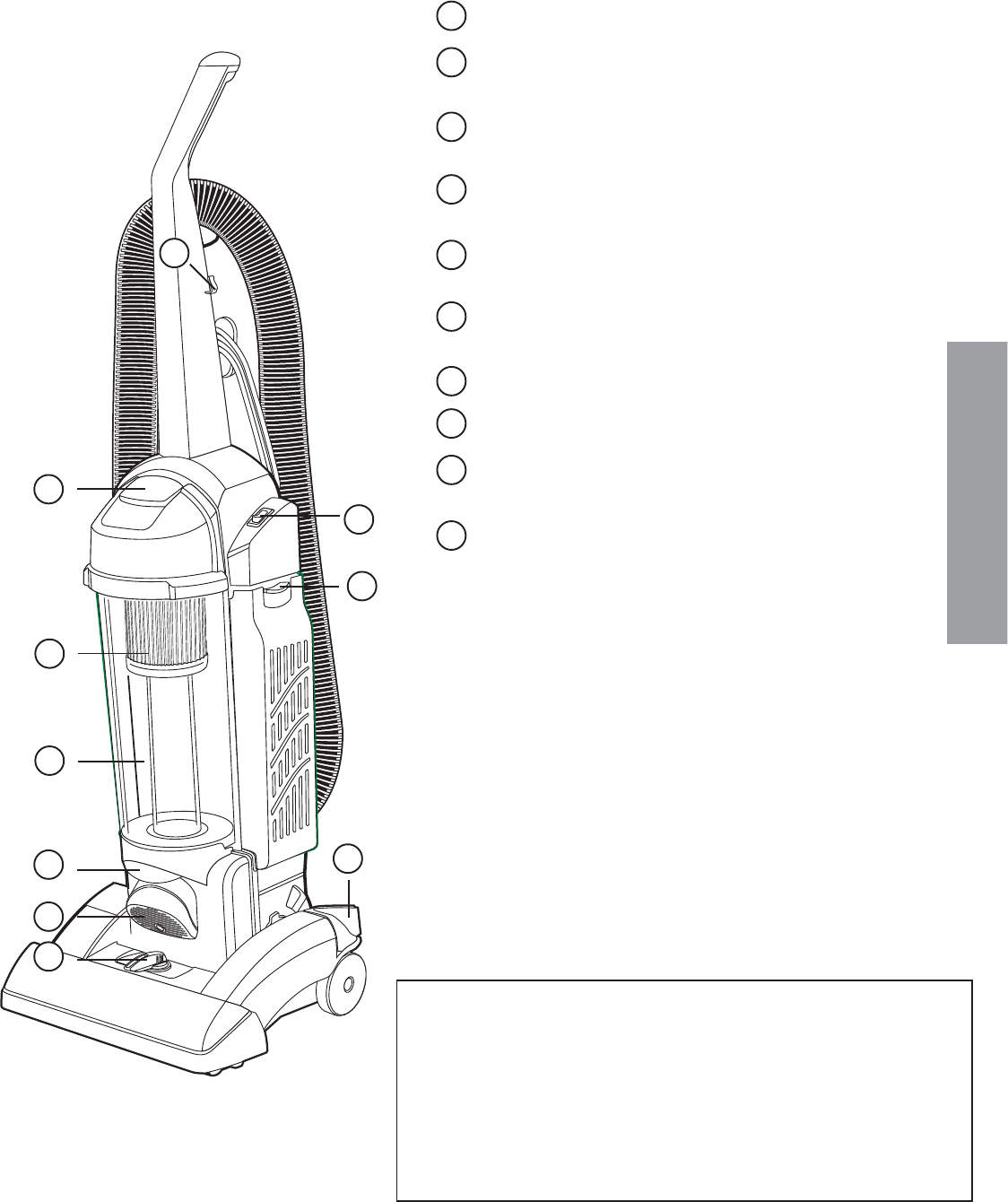 Page 5 of Eureka Vacuum Cleaner 5840-5898 User Guide
