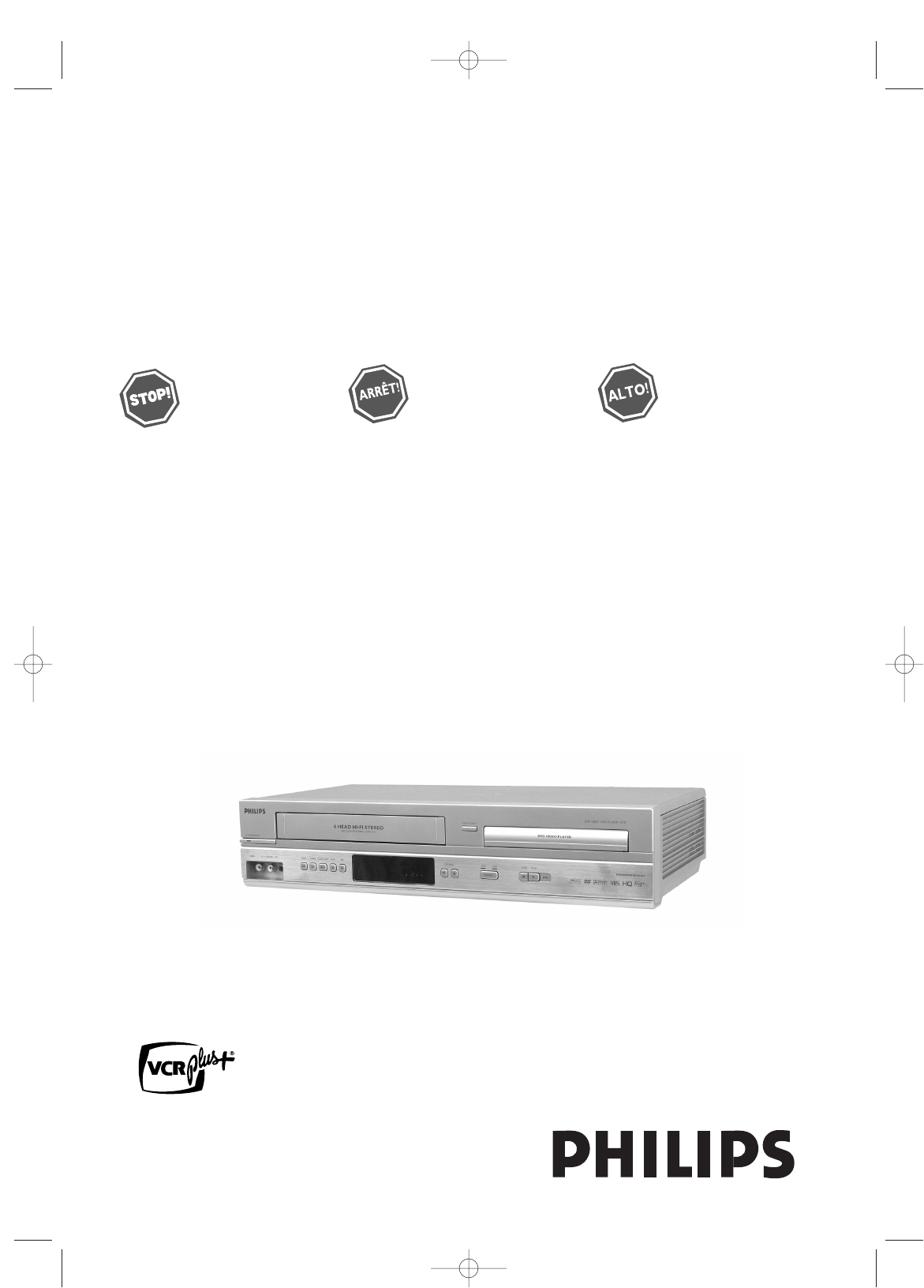 Philips DVD VCR Combo DVP3200V/37 User Guide