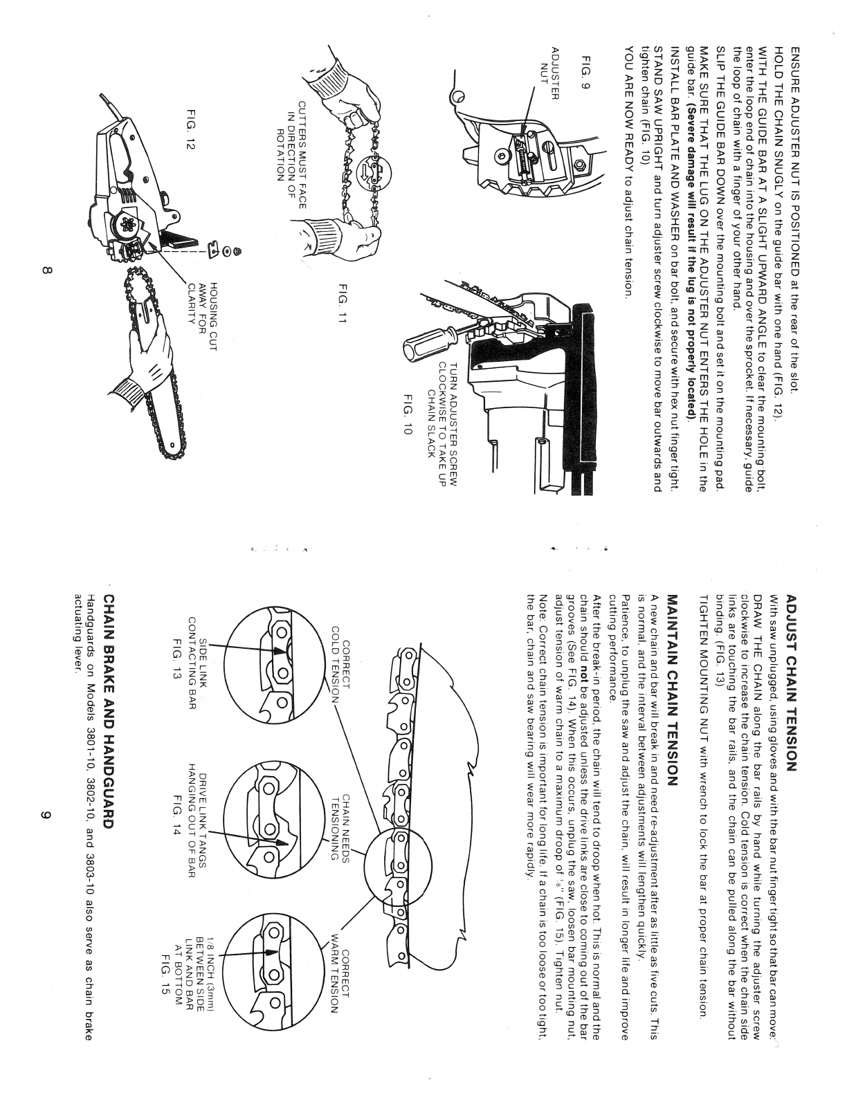 Page 8 of Black & Decker Chainsaw 3801-10 User Guide