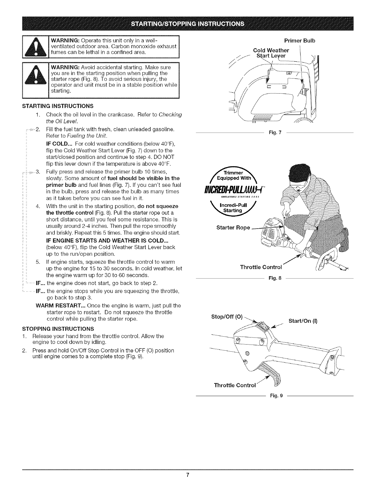 Page 7 of Craftsman Trimmer 316.79197 User Guide