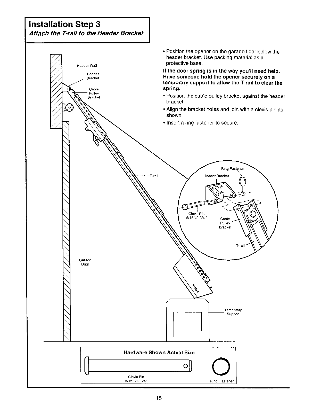 Page 15 of Craftsman Garage Door Opener 139.53834SRT3 User
