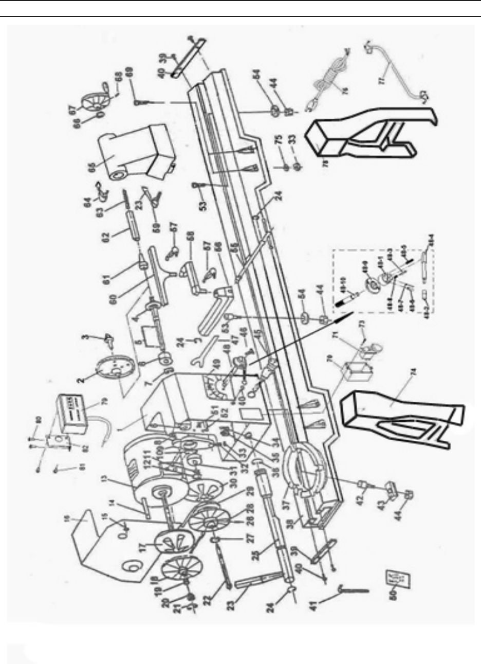 Page 18 of Harbor Freight Tools Lathe 98676 User Guide
