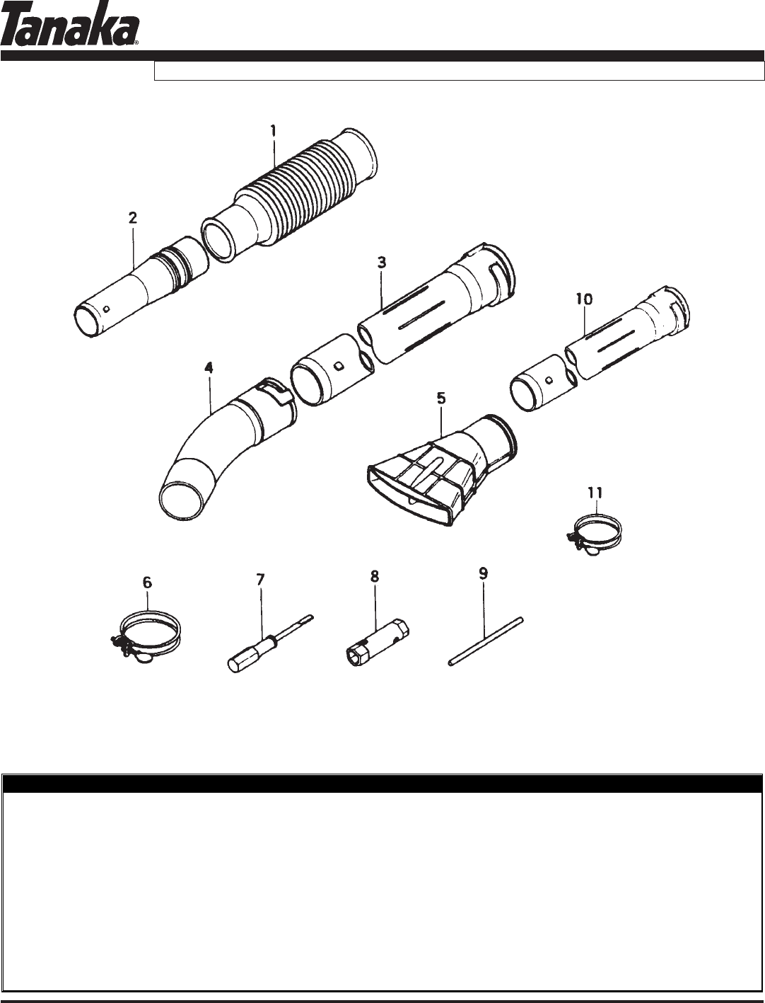 Page 14 of Tanaka Blower TBL-455/500 User Guide