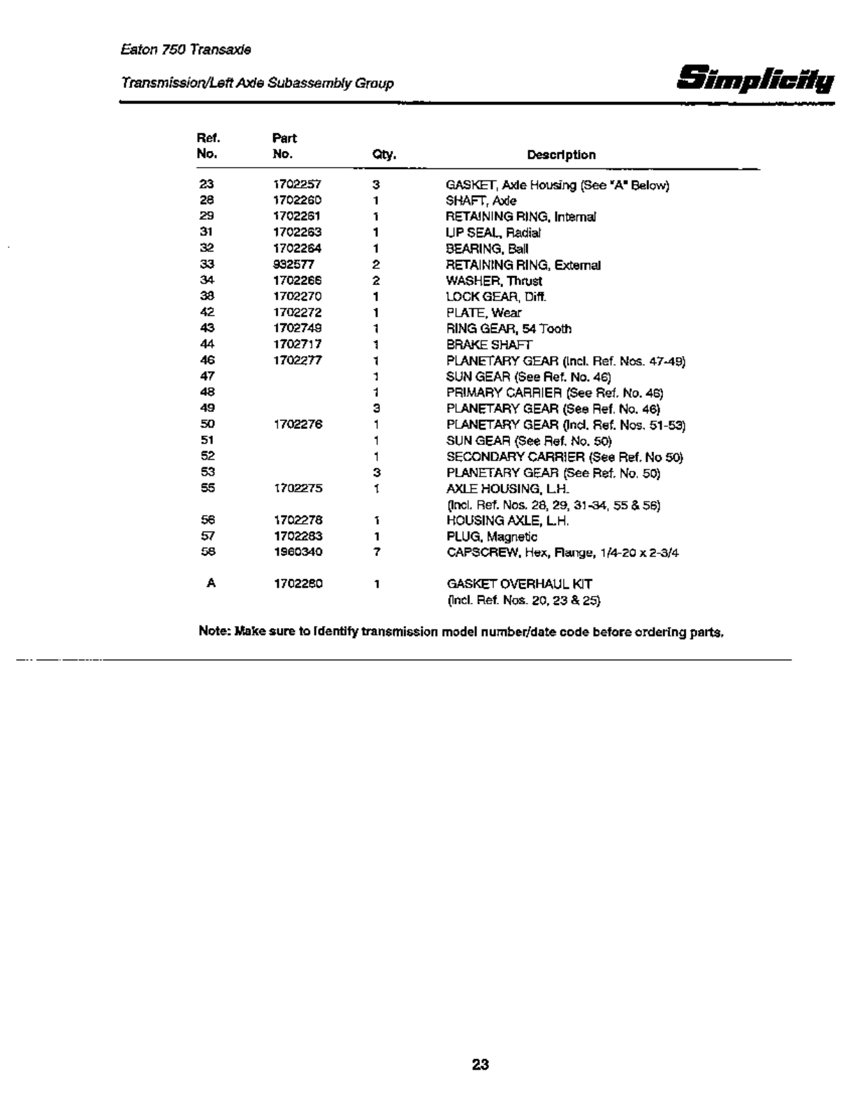 Page 25 of Simplicity Lawn Mower 12.5 LTH User Guide