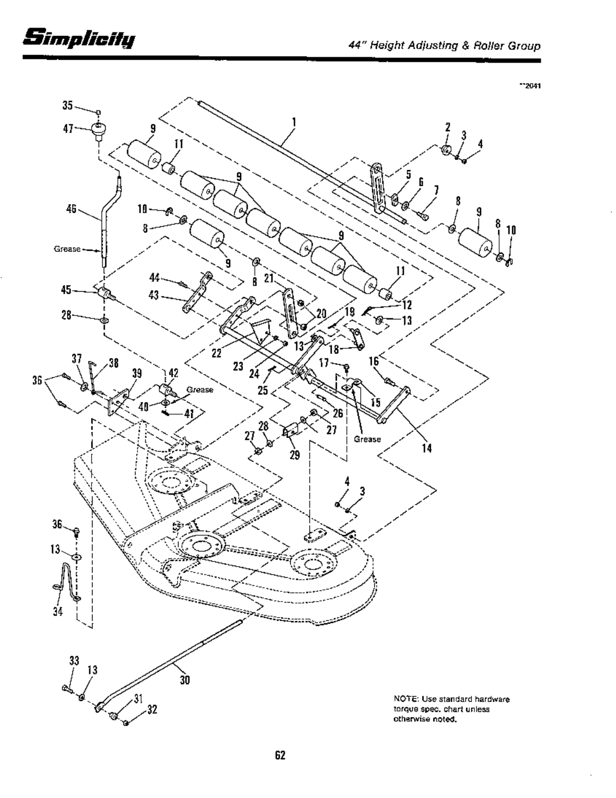 Page 64 of Simplicity Lawn Mower 12.5 LTH User Guide