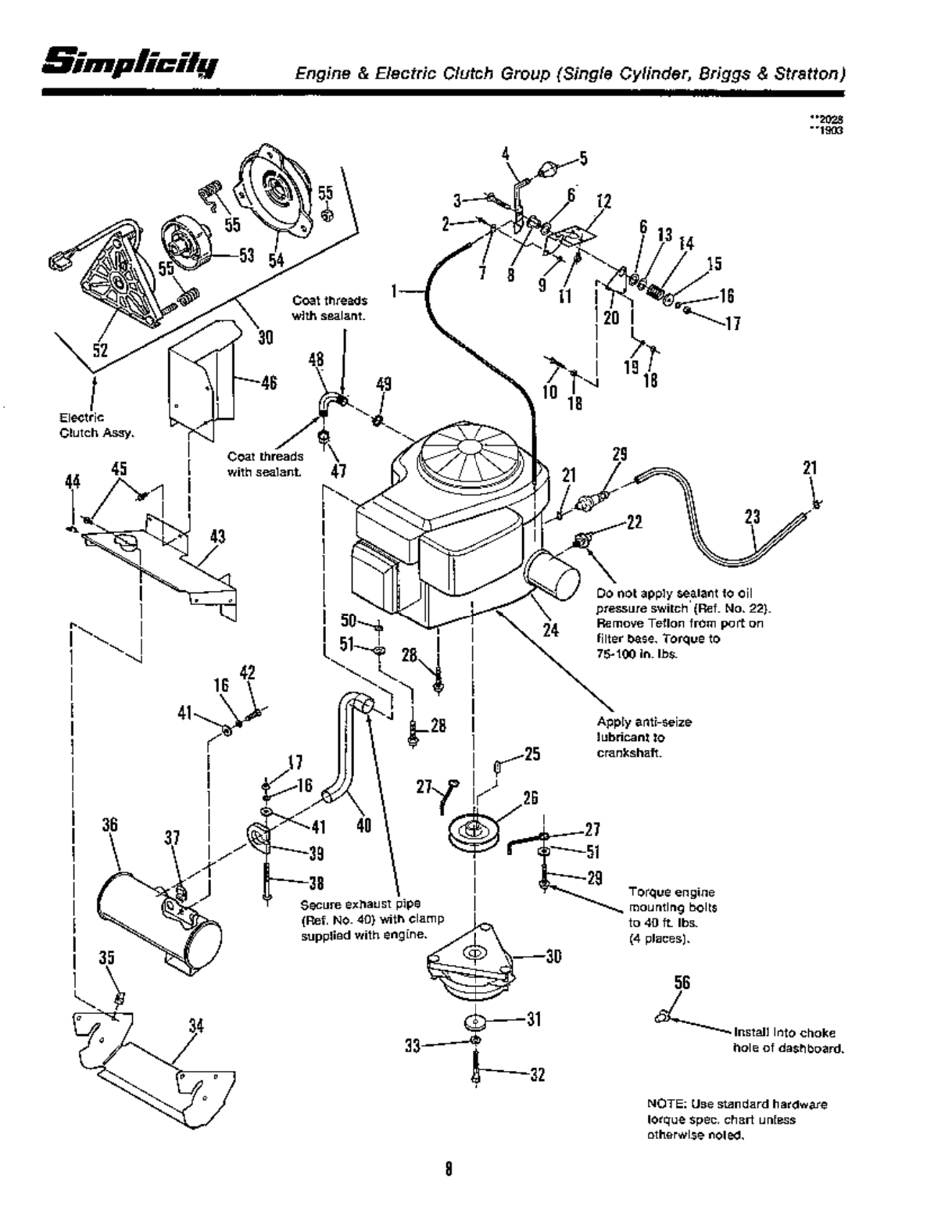 Page 10 of Simplicity Lawn Mower 12.5 LTH User Guide