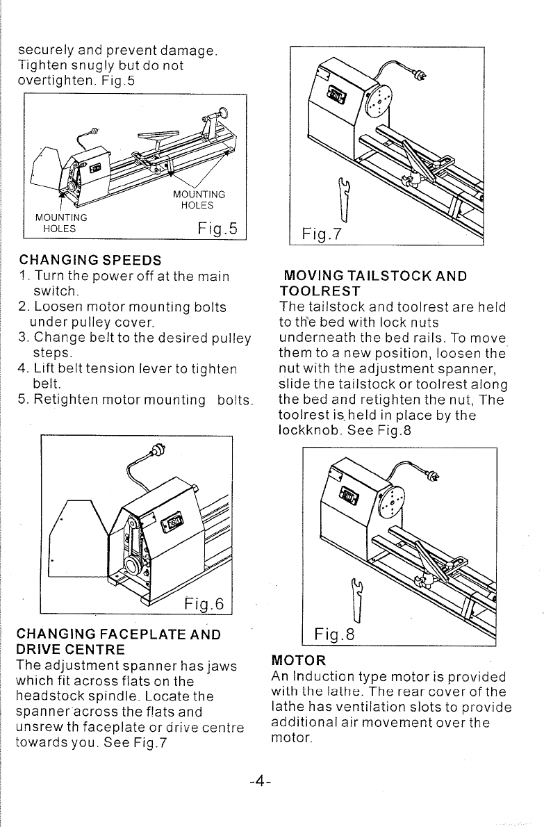 Page 5 of Global Machinery Company Lathe ML10001 User