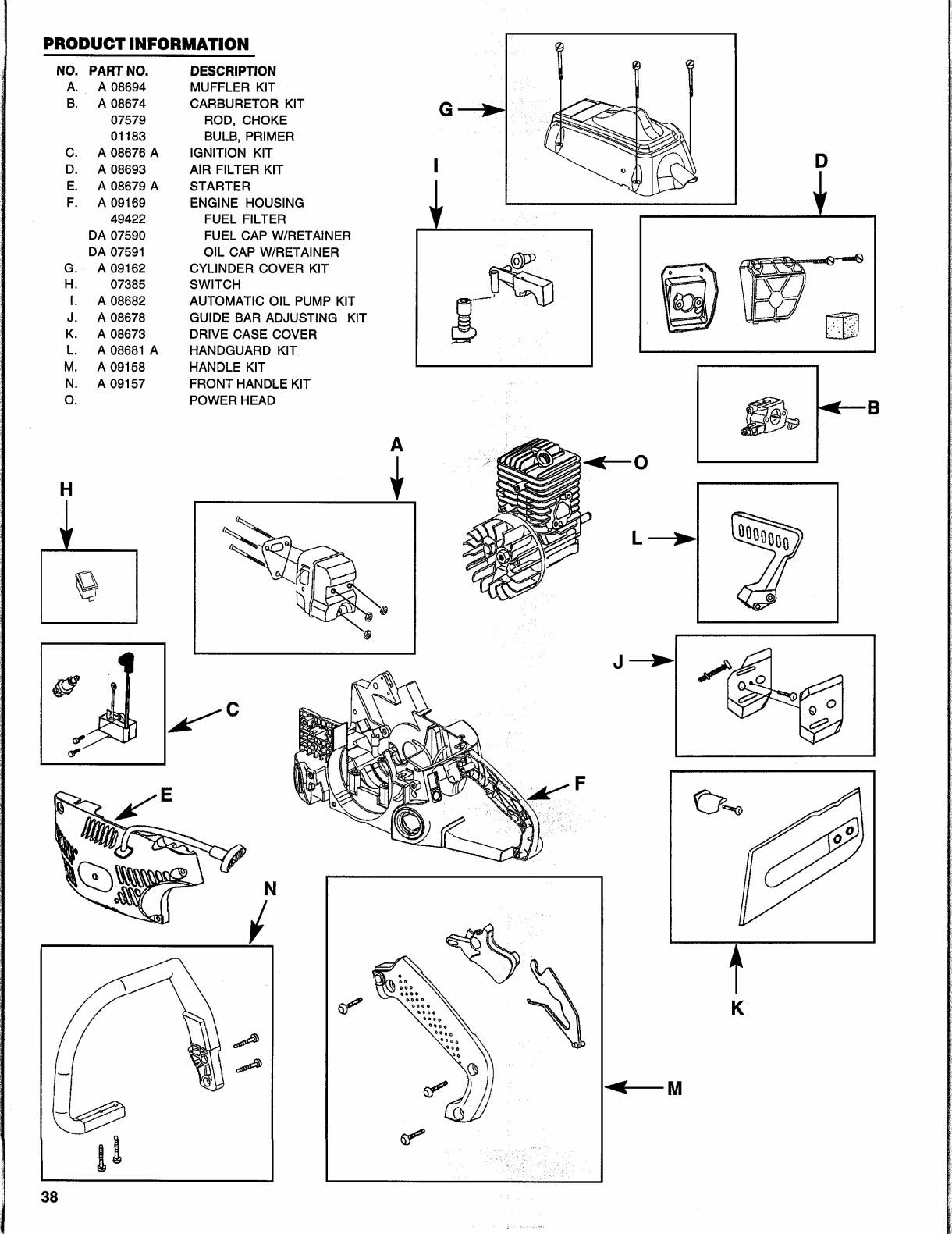 Page 37 of Homelite Chainsaw UH10817 User Guide