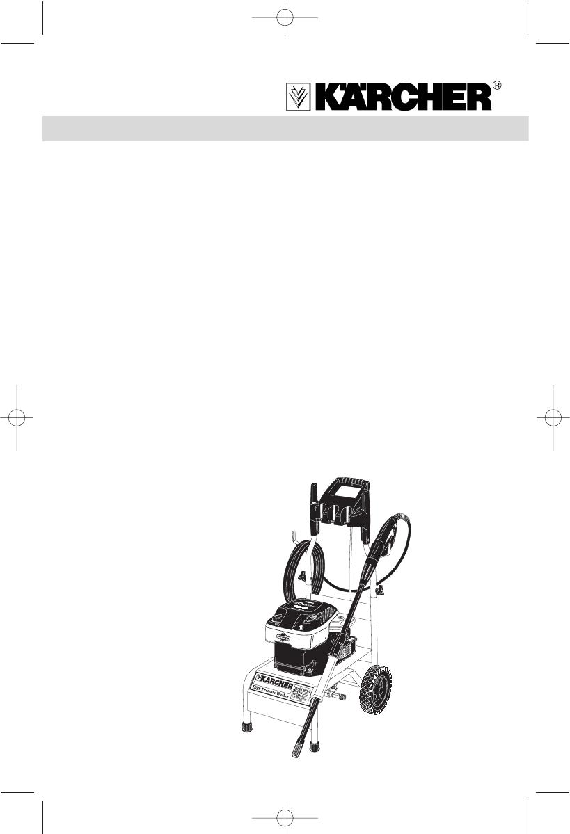 Karcher Pressure Washer K 3000 G User Guide