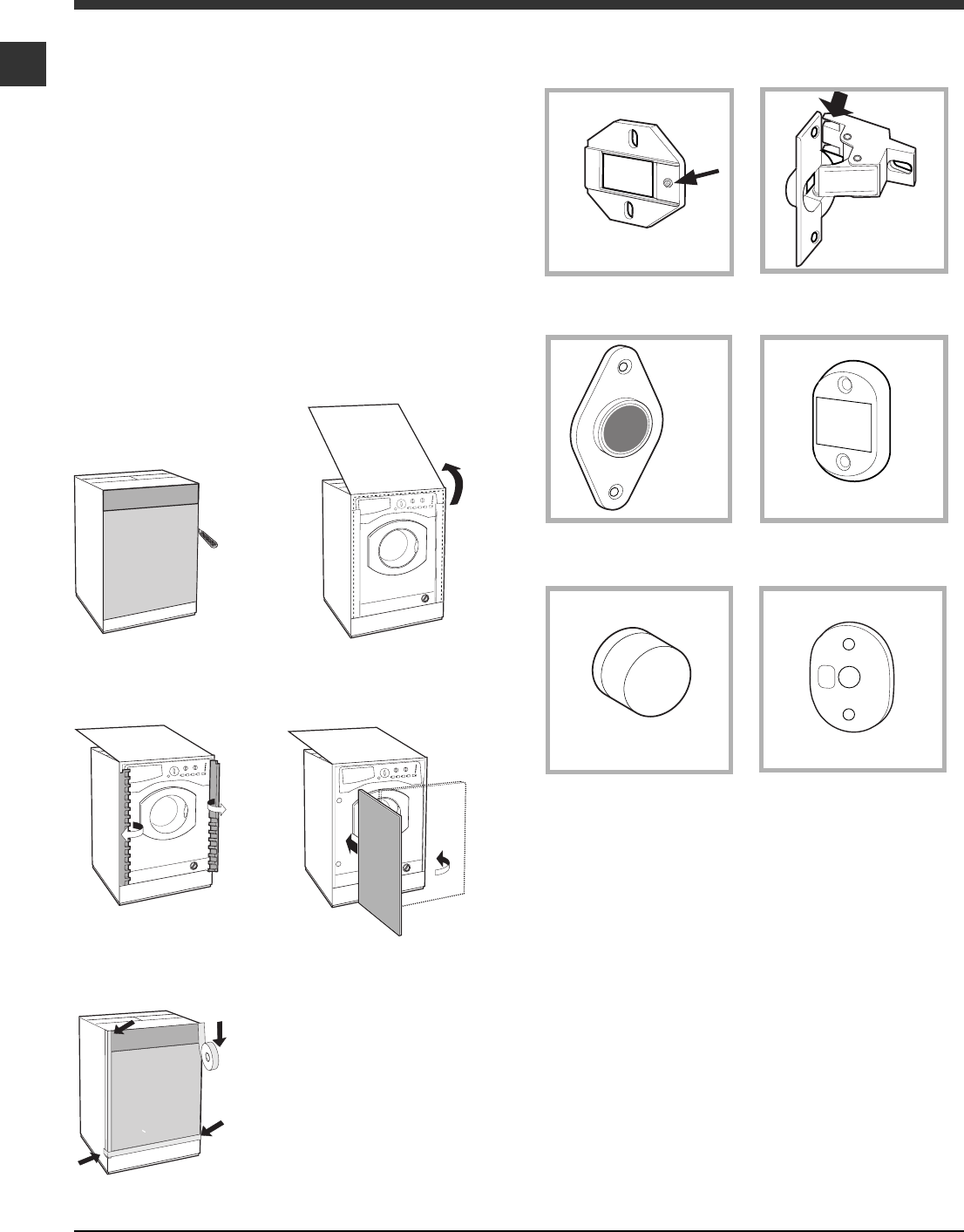 Page 6 of Hotpoint Washer/Dryer BHWD149 User Guide