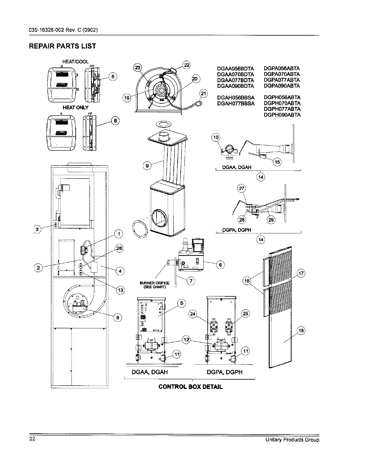 Page 22 of York Furnace DGAA056BDTA User Guide