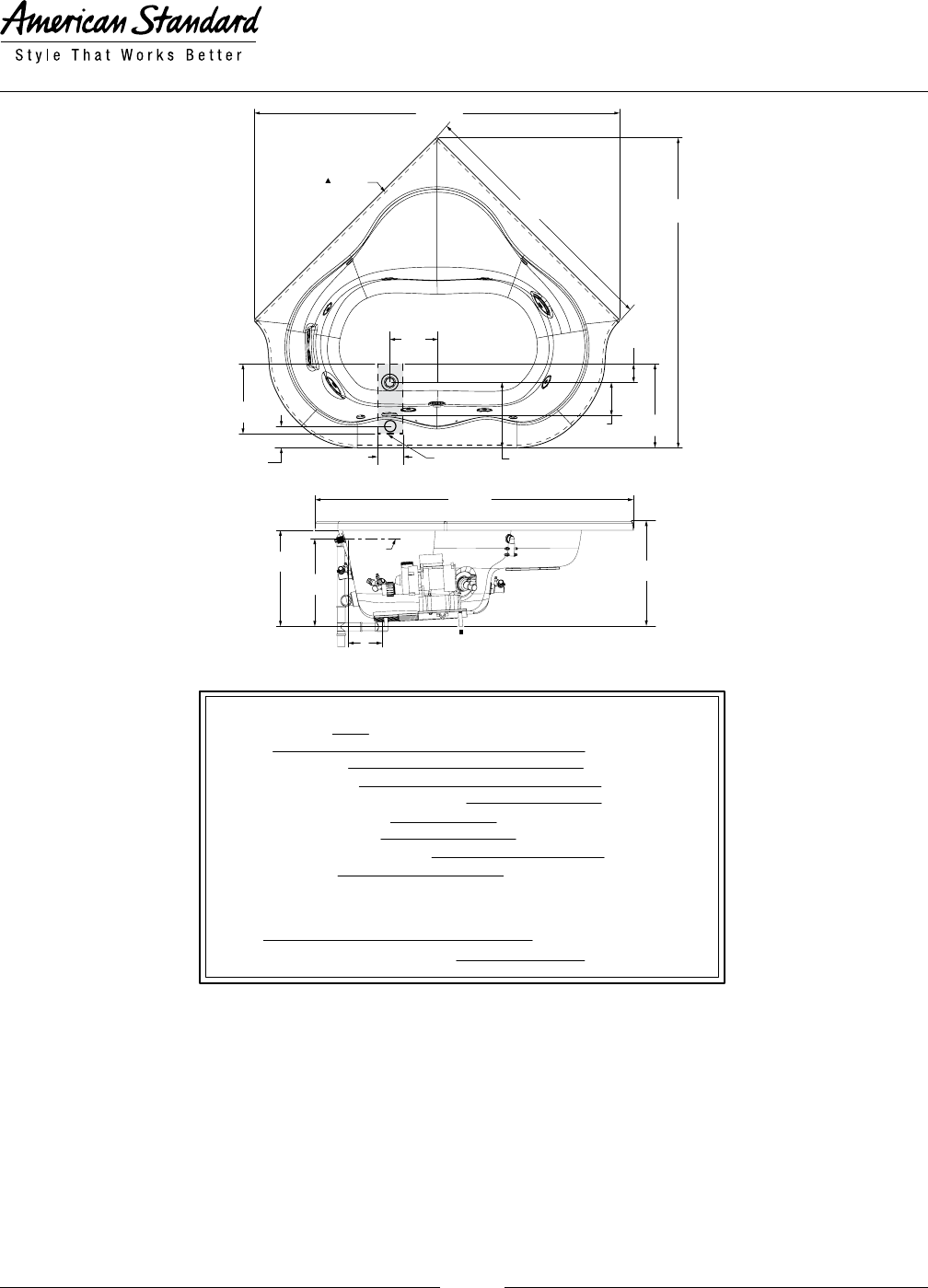 Page 2 of American Standard Hot Tub ANSI Z124.1 User Guide