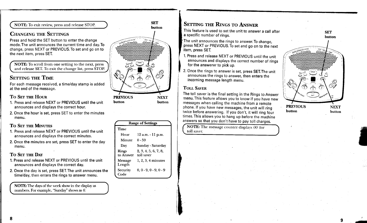 Page 5 of GE Answering Machine 29869 User Guide