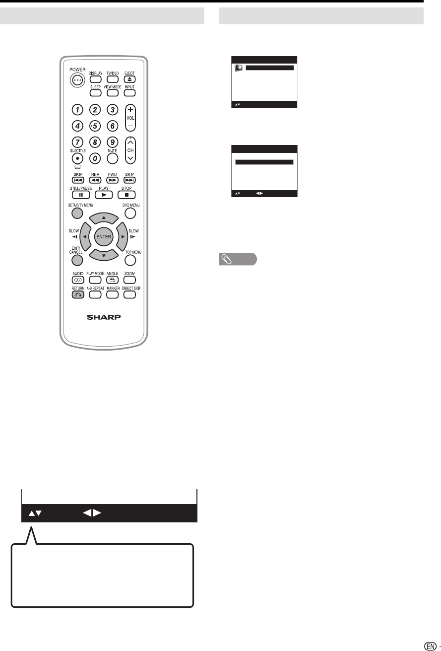 Page 29 of Sharp TV DVD Combo LC-19DV28UT User Guide