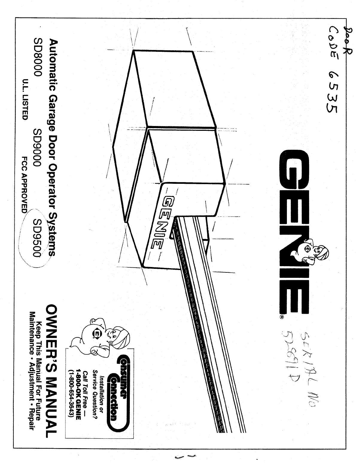 Genie Garage Door Opener Sd User Guide