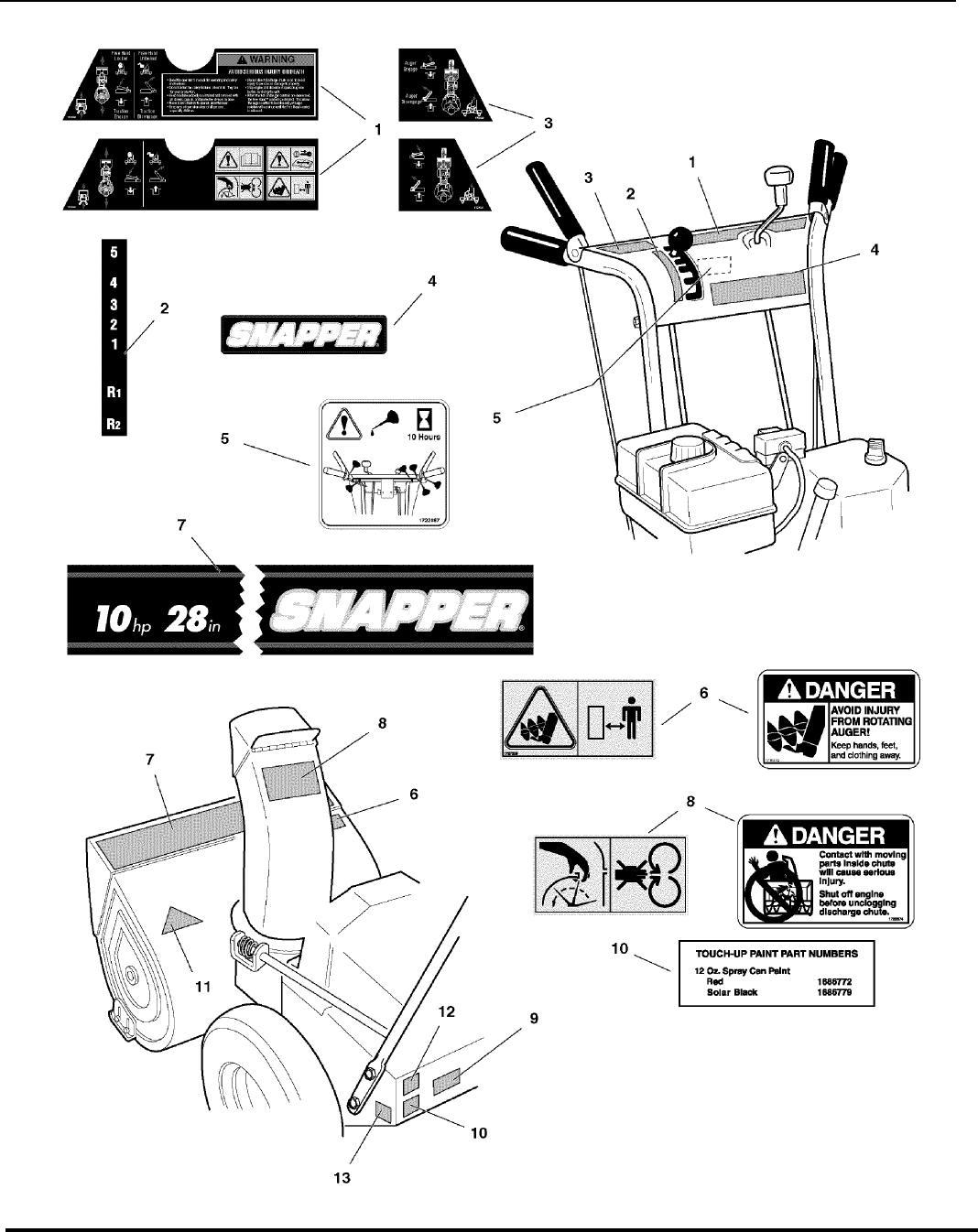Page 30 of Snapper Snow Blower 10287E User Guide