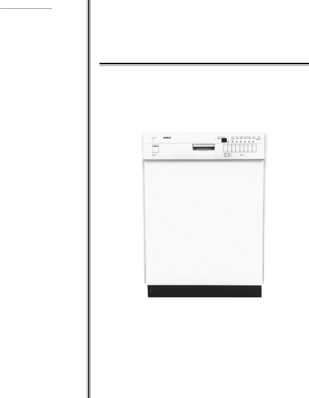 Bosch Appliances Dishwasher 4302 User Guide