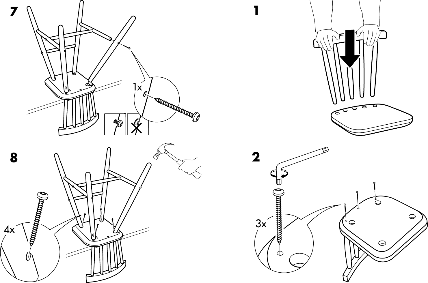 Page 3 of IKEA High Chair AA-183046-3 User Guide