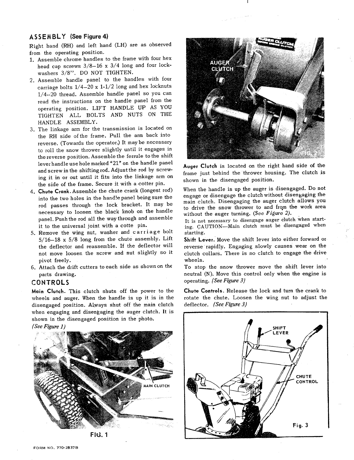 Page 2 of MTD Snow Blower 310-400 User Guide