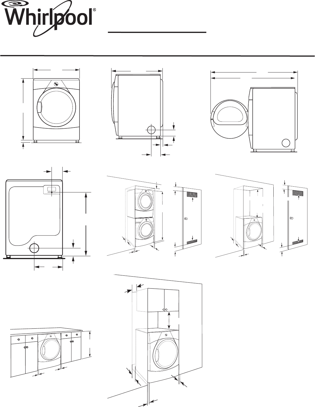Whirlpool Clothes Dryer WGD9150W User Guide