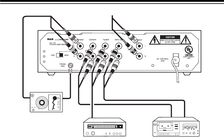 Page 5 of RCA Stereo Amplifier SA-155 User Guide