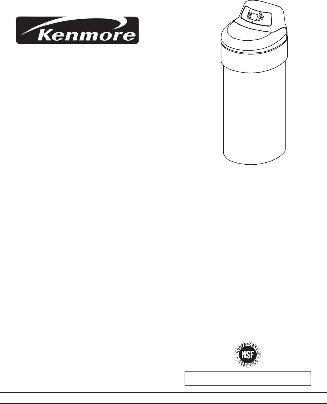 Kenmore 370 Series Water Softener Manual