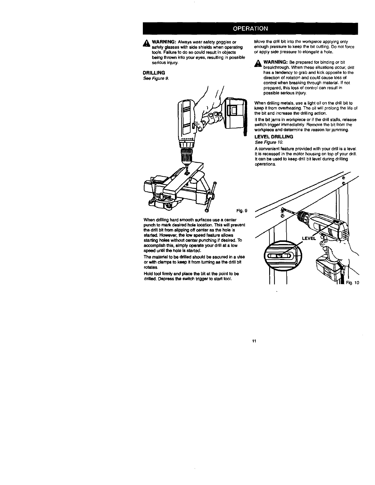 Page 11 of Craftsman Drill 973.111330 User Guide