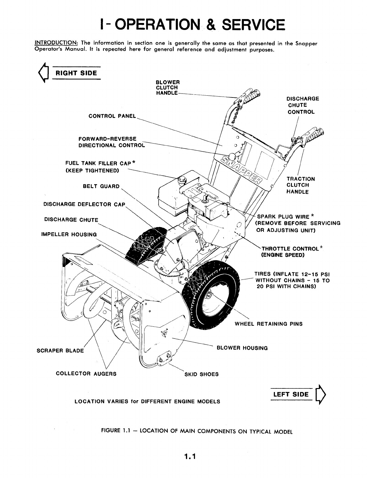 Page 3 of Snapper Snow Blower 07004 User Guide