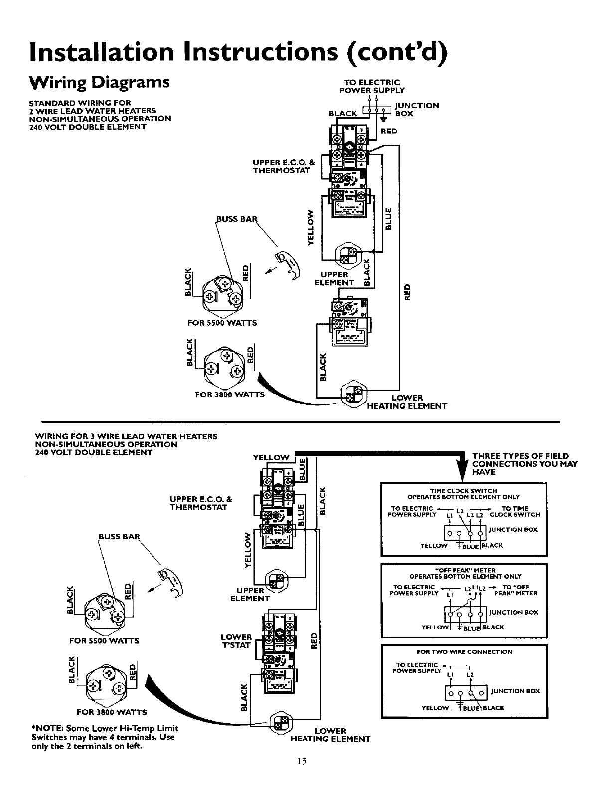 Page 13 of Kenmore Water Heater 153.320893 HT User Guide